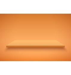 Orange Presentation platform vector