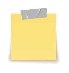 Paper reminder scotch tape strip piece stick vector