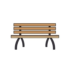 Park bench icon vector