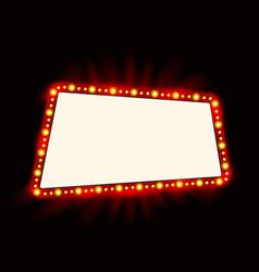 Retro showtime sign neon lamps billboard vector