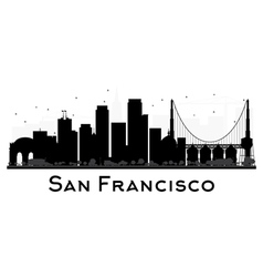 San Francisco skyline black and white silhouette vector