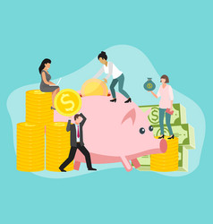 save money people concept vector image