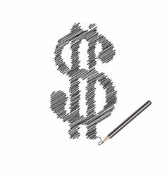 scribble of money vector image