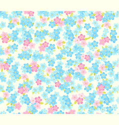 Seamless flower colour pattern floral background vector
