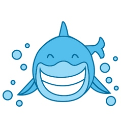 Smile shark vector