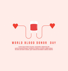 Style background for blood donor day vector