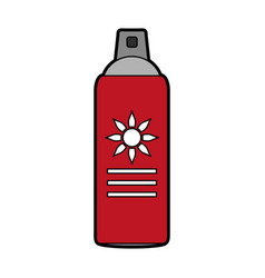 Sunscreen bottle icon image vector