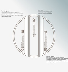Template with circle vertically divided to three vector