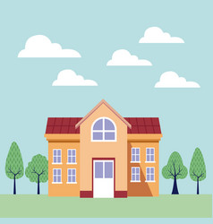 university campus building vector image