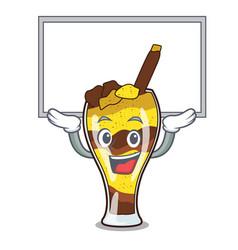 Up board mangonada fruit character cartoon vector