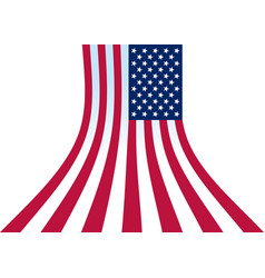 us flag perspective vector image