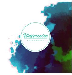 Watercolor background bright splash colors vector