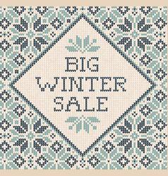 winter autumn season frame border poster vector image