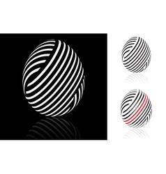 Woven easter egg vector