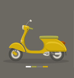 yellow flat scooter vector image
