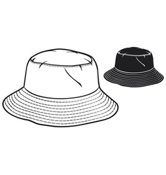Bucket hat collection vector