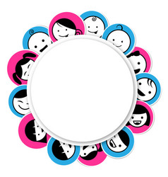 circle banner with kids icon vector image vector image