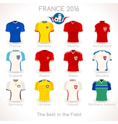 France EURO 2016 Apparel Icons vector image vector image