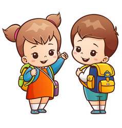 going to school vector image vector image