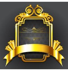 Golden Royal Badge vector image