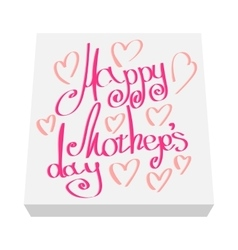 Greeting card for Mother Day cartoon icon vector image