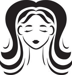 face of young brunette vector image vector image