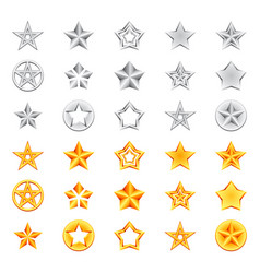 golden and silver stars vector image vector image