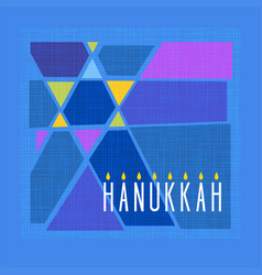 Hanukkah card with colorful star of david vector