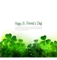 Happy Saint Patricks Day Background vector image