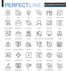 business project thin line web icons set strategy vector image