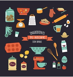Chalkboard meal recipe template design vector image vector image