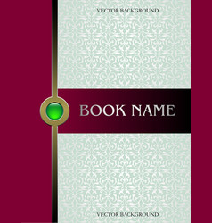 Cover book vector image vector image