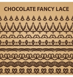 Eight Chocolate Lace Patterns vector image