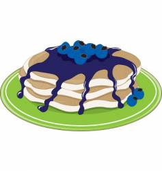 pancakes blueberry vector image