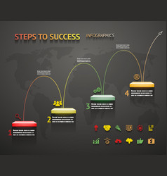 Success Option Steps Template Arrow and Staircase vector image vector image