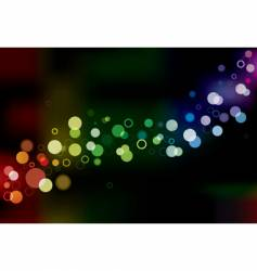 abstract lights vector image vector image