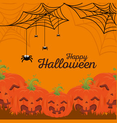 background happy halloween vector image