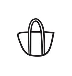 Hand bag sketch icon vector