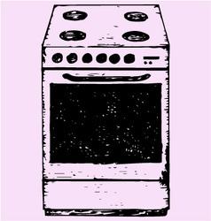 Oven vector