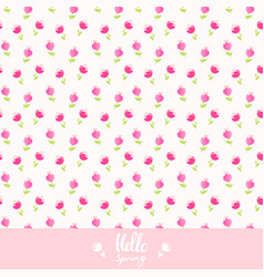 seamless background flowers vector image