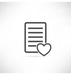 Wish List Icon Heart vector image vector image
