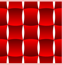 3d curve tile seamless pattern red 002 vector image