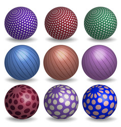 abstract 3d spheres set vector image
