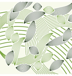 abstract green foliage vector image
