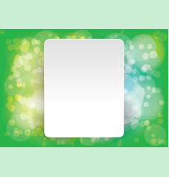 abstract layout bokeh green background vector image