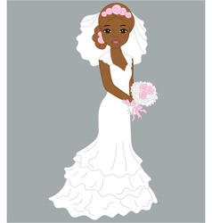 African American Bride vector