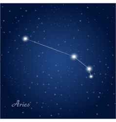 Aries constellation zodiac vector