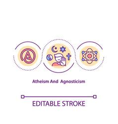 Atheism and agnosticism concept icon vector