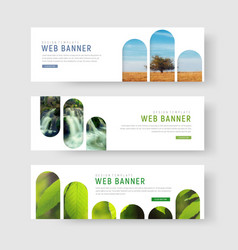 banners with a place for photos in the form of vector image