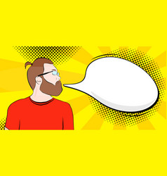 bearded man in the style vector image
